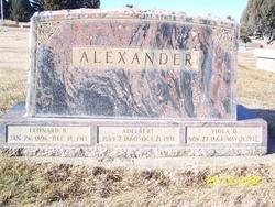 Leonard B Alexander