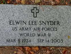 Elwin Lee Snyder