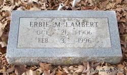 Erbie Mae <i>Williams</i> Lambert