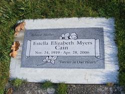 Estella Elizabeth <i>Myers</i> Cain