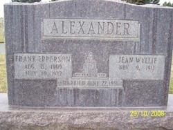 Jean <i>Wyllie</i> Alexander
