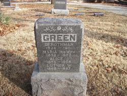 Maria <i>Brokenshaw</i> Green