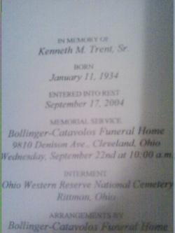 Kenneth Melvin Trent, Sr