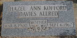 Hazel Ann <i>Kofford Davies</i> Allred
