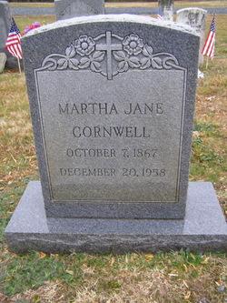 Martha Jane <i>Cornwell</i> Cornwell