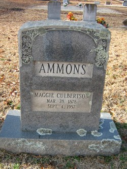 Maggie <i>Culbertson</i> Ammons