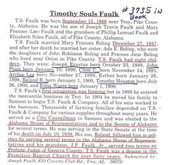 Timothy Souls Faulk