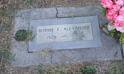 Bobbie E. Alexander