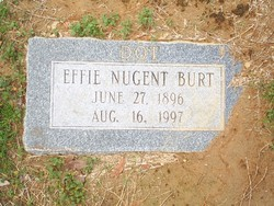 Effie Dorothy Dottie <i>Nugent</i> Burt