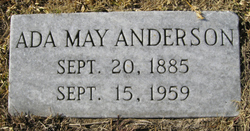Ada May <i>Andrews</i> Anderson