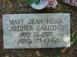 Mary Jean <i>Heigl</i> Gardner Zakutney