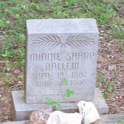 Minnie <i>Sharp</i> Ballew
