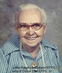 Lottie Rebecca <i>Wallace</i> Epps
