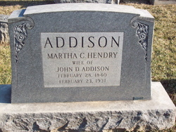 Martha C <i>Hendry</i> Addison