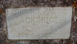 Florence Palmer Ackridge