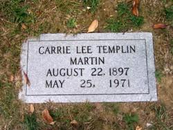 Carrie Lee <i>Templin</i> Martin