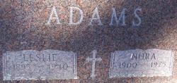 Leslie J Adams