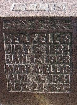 Benjamin F Uncle Ben Ellis