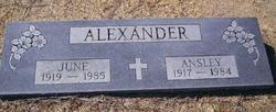 June <i>Dryden</i> Alexander