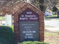 Saint Stephens Baptist Church Cemetery