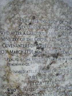 Rev John Cuthbertson