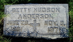 Betty Ward <i>Hudson</i> Anderson