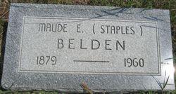 Maude E <i>Staples</i> Belden