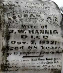 Susanna A. Susan <i>Wilkerson</i> Dickinson