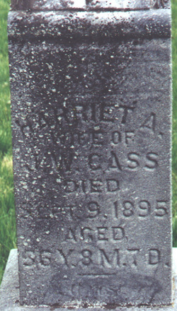 Harriett Ann <i>Dougherty</i> Cass
