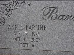 Annie Earline <i>Bonham</i> Barrett
