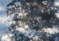 Maude L Anderson