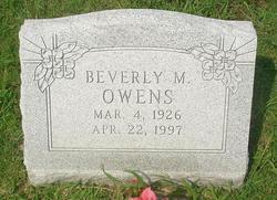 Beverly M. Owens