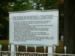 Dickerson Whitsell Cemetery