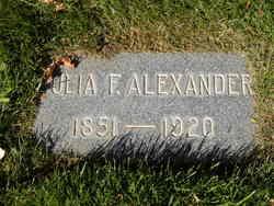 Julia F Alexander