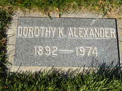 Dorothy K Alexander