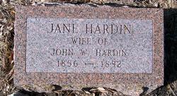 Jane <i>Bowen</i> Hardin