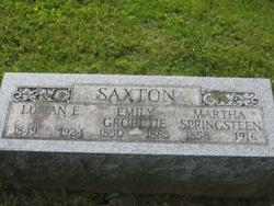 Emily <i>Grobetie</i> Saxton