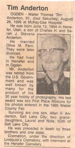 Walter Thomas Anderton