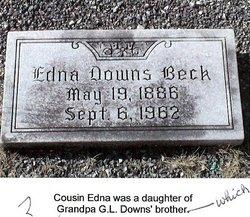 Edna <i>Downs</i> Beck