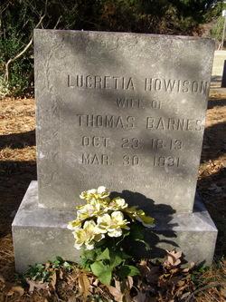Lucretia <i>Howison</i> Barnes