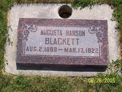 Hanna Sophia Augusta <i>Hanson</i> Blackett