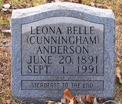 Leona Belle <i>Cunningham</i> Anderson