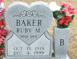 Ruby M <i>Nichols</i> Baker