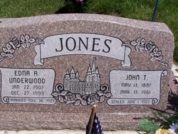Edna Almira <i>Underwood</i> Jones
