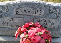 Maggie Priscilla <i>Cornwell</i> Beavers