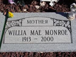 Willia Mae Billie <i>Starks</i> Monroe