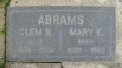 Mary Eliza (Elza?) Abrams