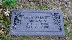 Lela <i>Prewitt</i> Brunson