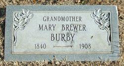 Mary <i>Brewer</i> Burby