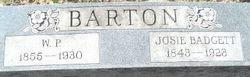 Josephine Aline Josie <i>Badgett</i> Barton